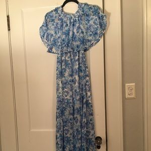 Show Me Your MuMu Blue Floral Maxi
